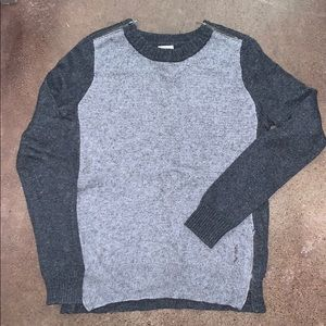 J crew two tone grey sweater